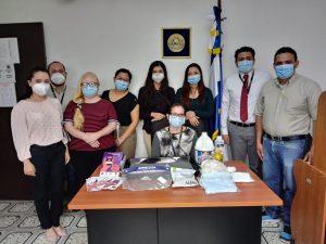 ORMUSA entregó paquetes de bioseguridad a juzgados especializados de Instrucción y Sentencia