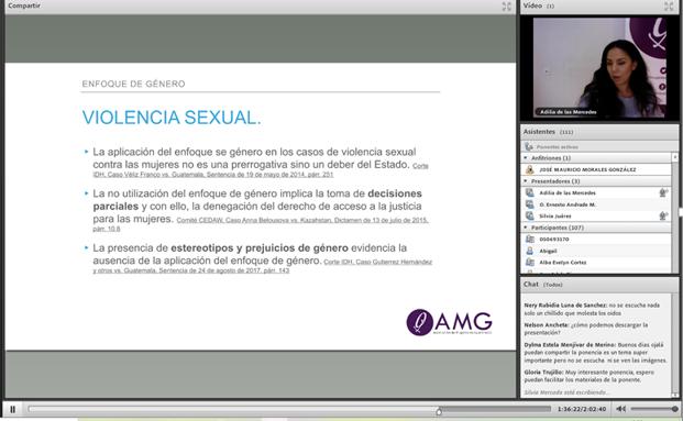 Figura 4. Aplicación del Enfoque de Género en los casos de violencia sexual Fuente. Mercedes, A. (2020) La Cultura de la Violación. Recuperado de https://cnjwebinar.adobeconnect.com/p8kljolwtecg/