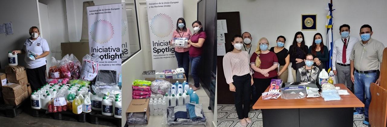 Ormusa entregó materiales de bioseguridad a FGR, PNC y juzgados especializados