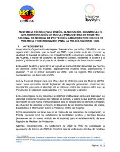 TDR MODULO PARA SISTEMA DE-REGISTRO MEDIDAS DE PROTECCION PNC 2a convocatoria1