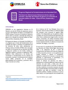 TDR Estudio de inversión en niñas STC-ORMUSA