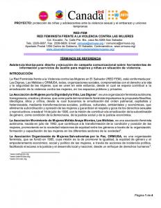 TDR Producción de video y Plan de Medios para su difusión 1a convocatoria