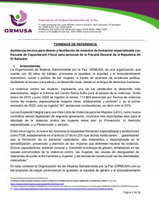 TDR Asistencia Técnica Diseño y facilitación módulos VIII IX Y XI Formación ECF