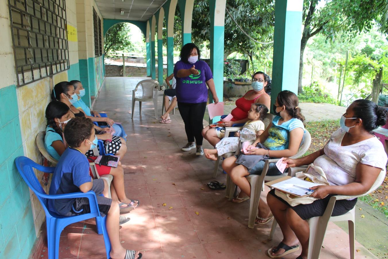 """Lee más sobre el artículo ORMUSA en el territorio, organiza jornada con grupo """"Mujeres Valientes"""" de Comunidades Unidas, Ciudad Arce"""