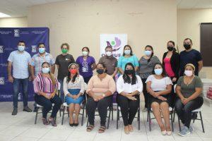 Lee más sobre el artículo ORMUSA en el territorio, presenta resultados de aprendizajes de proyecto de emprendimiento con lideresas de San Pedro Masahuat, La Paz